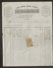 """SAINT-FLOUR (15) POELES FOURNEAUX CHEMINEES CALORIFERES """"A. CHAZOT Fils"""" en 1884"""