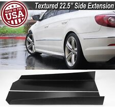 "23"" L Side Skirts Extension Bottom Wing Lip Splitter Diffuser Spoiler For Chevy"