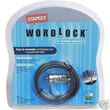 LOCK NOTEBOOK COMPUTER SECURITY COMBINATION WORDLOCK