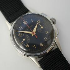 35.5mm 1950s Vintage Men's Helbros Chronograph Watch