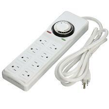 VIVOSUN 8 Outlet Surge Protector Power Strip with 24hr Programmable Timer 120V