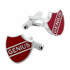 """Genius"" Crest Cufflinks by Onyx Art - London in gift box - 24620"