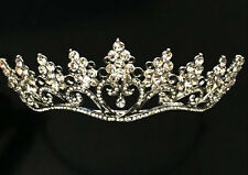 VINTAGE DESIGN HEART DROP SMALL PRINCESS CROWN TIARA - AUSTRIAN CRYSTAL - BRIDAL