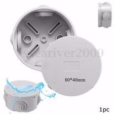 IP44 Round Waterproof Weatherproof Junction Box Plastic Electric Enclosure Case