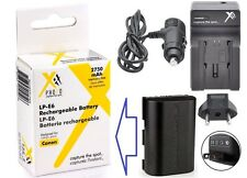 Hi Capacity LP-E6 Li-Ion Battery & 110/220V AC/DC Charger for Canon