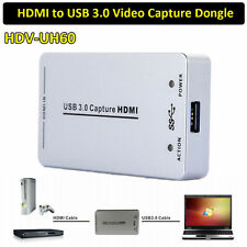 HDMI HDV-UH60 To USB3.0 Video Capture Dongle 1080P 60FPS Capture Box For Windows