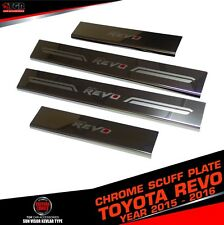 SCUFF PLATE DOUBLE CAB 4 DOORS STAINLESS STEEL FOR TOYOTA HILUX REVO 2015-2016