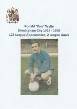 RON WYLIE BIRMINGHAM CITY 1965-1970 ORIGINAL HAND SIGNED NEWSPAPER CUTTING