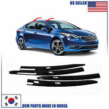 NEW SMOKED DOOR VISOR WINDOW SUN RAIN VENT DEFLECTOR KIA FORTE SEDAN 2014-2016