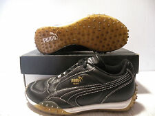 PUMA TEMO LEATHER SOCCER SNEAKERS MEN/WOMEN SHOES BLACK 144690 20 SIZE 5 6.5 NEW