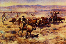 522063 The Roundup Charles M Russell A4 Photo Print
