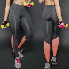 Women Sports Gym Yoga Workout High Waist Running Pants Fitness Elastic Leggings
