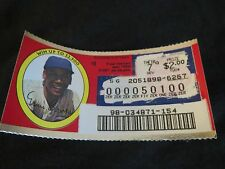 1996 Illinois Scratched Lottery Ticket of Ernie Banks of the Chicago Cubs