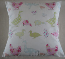 Ducks & Geese  Cushion Cover Pastel Shades Chicken Cover - Kitchen