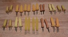 Lot 26 Corn on the Cob Holders End Pierces Vintage Picks Plastic Wood