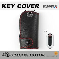 Leather Key fob Holder Case Chain Cover FIT For FIAT 500 c TREKKING PANDA 113A
