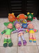 VINTAGE 1983 RAINBOW BRITE PLUSH DOLLS LOT OF 7