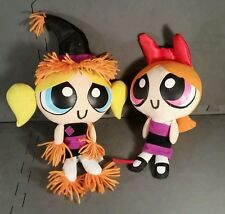 Rare Powerpuff Girls plush Halloween dolls. Bubbles and Blossom. Devil & Witch