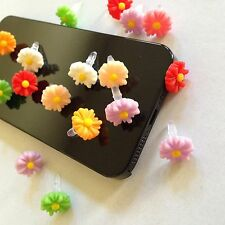 8pcs Mix Color Sunflower Dust Plug For iphone & 3.5mm Earphone cap Mobile Phone
