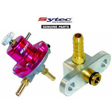 SYTEC SAR FUEL PRESSURE REGULATOR (RED) + FUEL RAIL ADAPTOR - MAZDA 323F / GTR