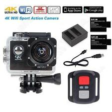 SJ8000 4K 30FPS 16MP  HD WiFi Sports Action Camera +Remote+Battery Charger Kit