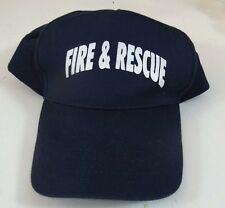 Fire and Rescue Baseball Fireman Police EMT Blue Snapback Adjustable Cap Hat
