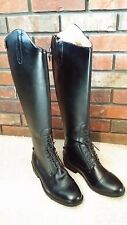 SAXON Equileather Tall Field Boot synthetic leather Womens Size 11 Regular
