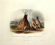 Native American Indian Chief Lodge Portrait Photo Art Print Poster