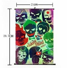 Hot Movie Suicide Squad Batman Harley Quinn Joker Home Decor Poster Wall Scroll+