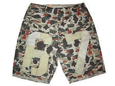 Ralph Lauren Denim and Supply Wilderness Camouflage Camo Polo 67 Patch Shorts 32