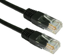 Black Network Ethernet RJ45 Cat5E UTP PATCH 26AWG CCA Cable Lead 10m