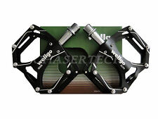 "New Wellgo M194 MTB Bicycle Bike Aluminum Pedals 9/16"" Black"