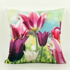 GORGEOUS DIGITALLY PRINTED PINK LILY CUSHION COVER 45 X 45CMS WITH HIDDEN ZIP