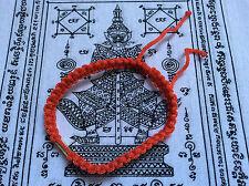 Bracelet sacré Sai Sin en coton tissé Chance Bouddhisme et Pha Yant - Thaïlande
