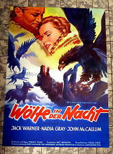 WÖLFE IN DER NACHT / Valley of Eagles * A1-FILMPOSTER - NADIA GRAY 1952 RANK RAR