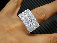 Mens Ring 925 Sterling Silver 14K White Gold Finish Simulated Diamond