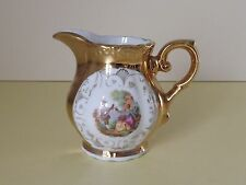 Vintage Veritable Porcelaine Gold Lustre Cream Jug ~ Italy (L64,112)