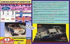 ANEXO DECAL 1/43 FORD ESCORT RS 1600 MK I T.MAKINEN R.MONTECARLO 1973 (01)
