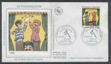 FRANCE FDC - 2506 1 BD FRED - ANGOULEME 29 Janvier 1988 - LUXE sur soie