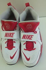 Nike NL2 Footbal White/Red Leather Men's Shoes Size-14.5M