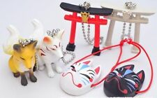 Japanese Fox Wa Kitsune Collection Figure Omen 6 Set Shrine Japan Gashapon New