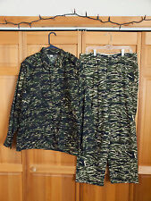 Rare Taiwan ROC Marine Corp Tiger Stripe Woodland Camo Set, Size Medium
