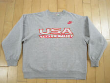 COOL!! 90s vtg NIKE red tag USA TRACK AND FIELD SWEAT SHIRT large
