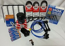 00-04 Toyota Tundra 3.4L V6 NGK Wire-Spark Plugs-Belt-Air-Fuel-Oil-Tune Up Kit