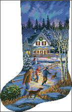 """Christmas Stocking #43"" Cross Stitch Pattern Chart"