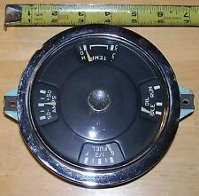 1959-60 CHEVY GAUGE CLUSTER ROUND FUEL, OIL, AMPS, TEMPERATURE