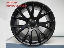 """4) 22"""" 22x9 Hellcat Style Wheels Satin Black Challenger 300C Charger Magnum RWD"""