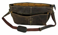 Crazy Horse Leather Men's Designer Shoulder Messenger Bag. Unique Design & Look!