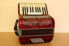 Vintage Weltmeister 40 Bass LMM Accordion Akkordeon Fisarmonica Red