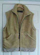 "GREAT ""FIRETRAP"" FAUX SHEEPS WOOL SLEEVELESS BEIGE GILET BODYWARMER L 16 18"
